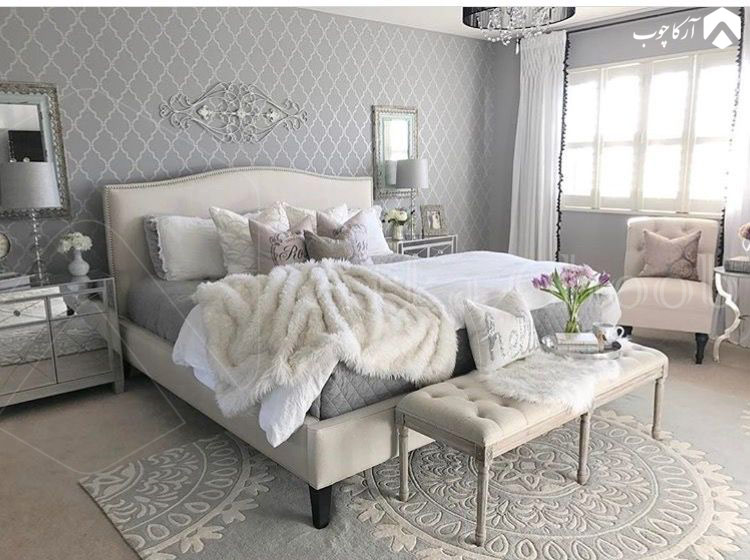 سرویس خواب مینیمال با رنگ خنثی