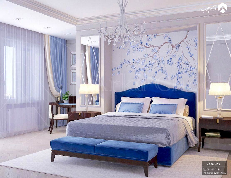 سرویس خواب اسپرت به سبک مدرن رنگ آبی قهوه ای کد 253