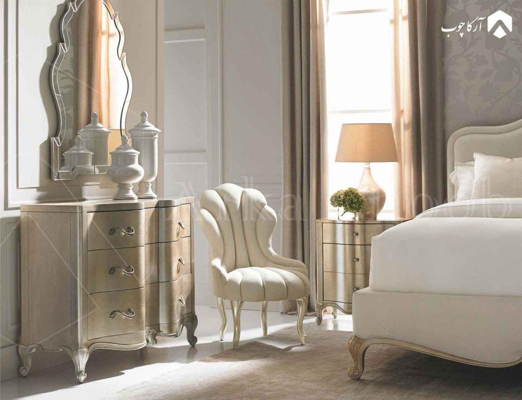 سرویس خواب سفید طلایی