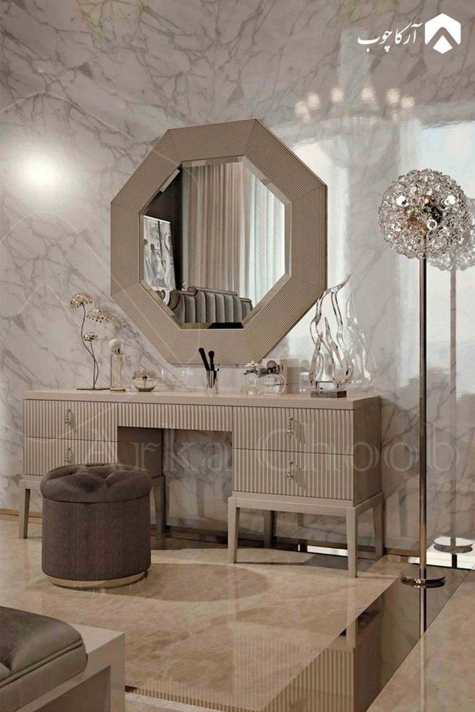 آینه کنسول طوسی سرویس خواب
