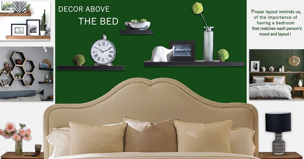 طرح ها و ایده هایی برای دکور بالای تخت